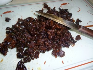 chopped dried plums - mince pies
