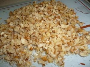 chopped walnuts - mince pies
